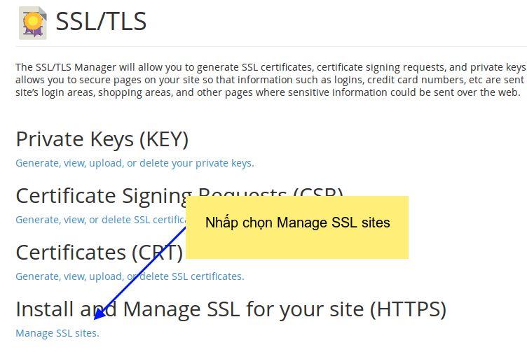 SSL cho Cpanel