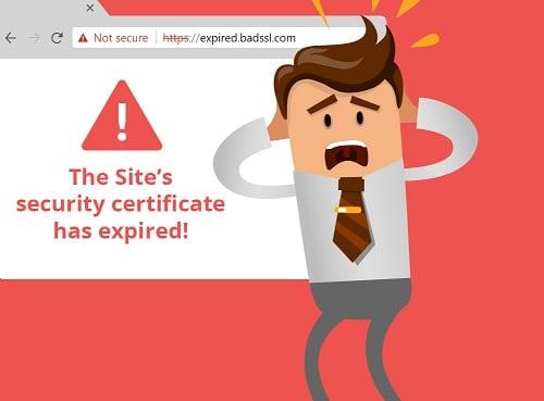 SSL hết hạn