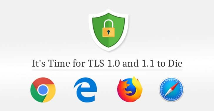 ngưng hỗ trợ tls 1.0 và 1.1